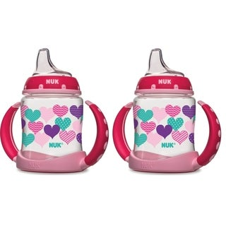 NUK Hearts Learner Cup - 5-Ounce - 2 Pack - Pink