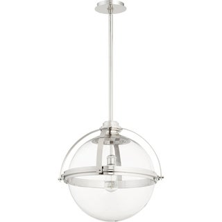 "Link to Quorum International Meridian 20"" Globe Family Clear One Piece Glass Pendant. 1 Light Clear Glass Downlight. Similar Items in Pendant Lights"