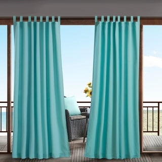Madison Park Cannon Solid Tab Top 3M Scotchgard Outdoor Window Curtain (More options available)