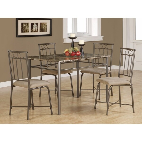 Contemporary 5-piece Dining Set with 4 Side Chairs