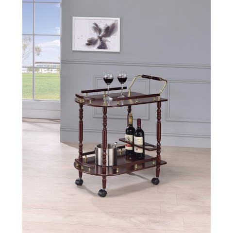 2-Tier Traditional Serving Cart, Brown
