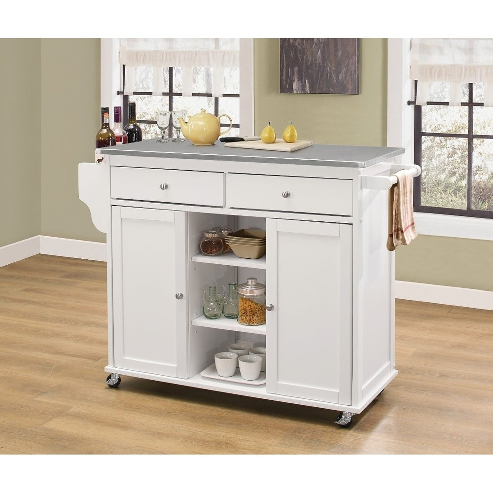 Kitchen Cart With Stainless Steel