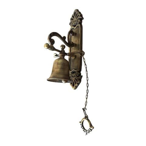 Offex Metal Handmade Brasso Western Vintage Door Bell - Medium