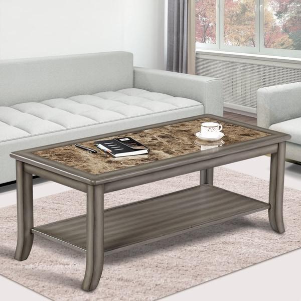 Shop Sleeplanner Genoa Rectangular Coffee Table Light Grey