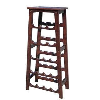 Offex Handmade Mahogany Wood Elegancy Wine Rack