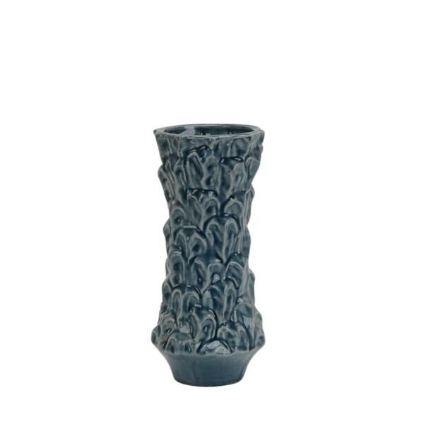 Aesthetically Designed Decorative Ceramic Vase, Blue