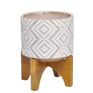 Enchanting Ceramic planter with stand, Multicolor