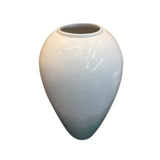 Decorative Ceramic Vase, White And Green