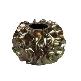 Beautifully Designed Cactiee Vase in Aged Gold