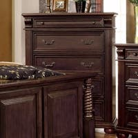 Luxurious English Style Wooden Chest, Brown Cherry