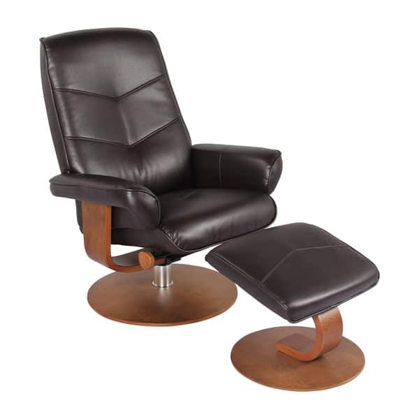 Brilliant Newridge Home Swivel Recliner Chair Ottoman In Java Verona Ncnpc Chair Design For Home Ncnpcorg