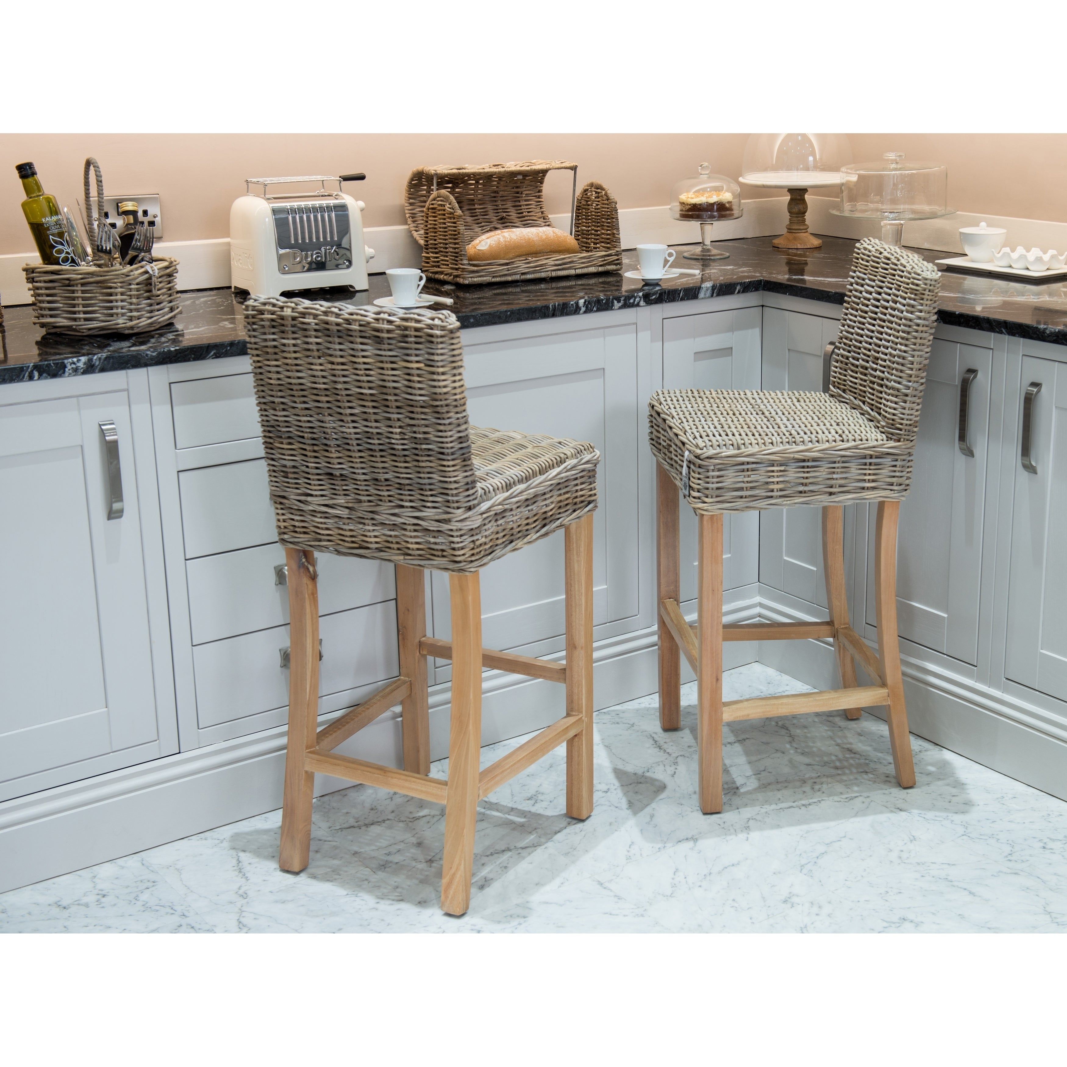 Excellent Kubu Rattan Bar Stool Squirreltailoven Fun Painted Chair Ideas Images Squirreltailovenorg