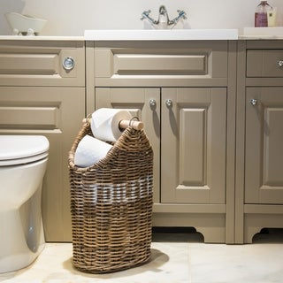 Kubu Rattan Toilet Paper Holder