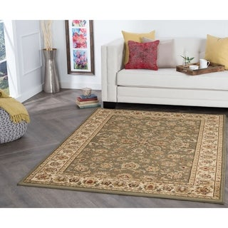 Alise Rugs Rhythm Traditional Green Area Rug - 9' 3 x 12' 6