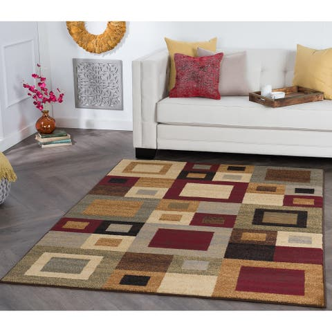 Alise Rugs Rhythm Contemporary Abstract Area Rug