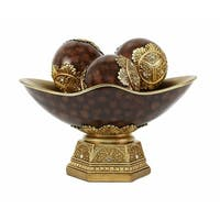 D'Lusso Designs Paoletta Collection Four Piece Bowl With Three Orbs Set