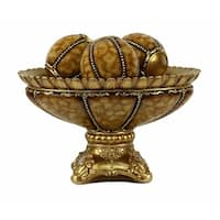 D'Lusso Designs Shanta Collection Four Piece Bowl With Three Orbs Set