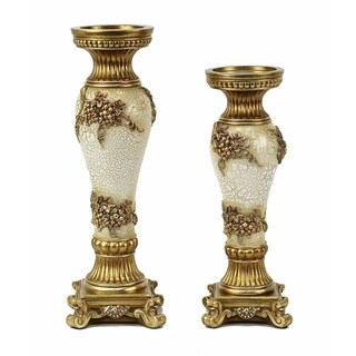 D'Lusso Designs Andreas Design Two Piece Hurricane Candlestick Set