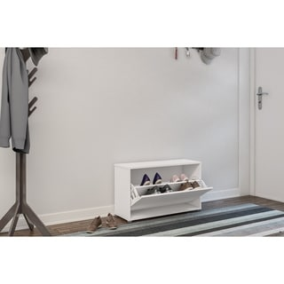Polifurniture Compact Shoe Storage, White
