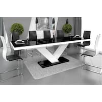 VICTORIA Dining Table with Extension - Black/White
