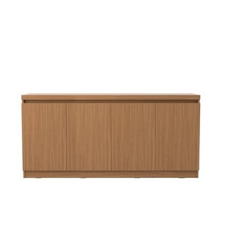 Viennese 62.99 in. 6- Shelf Buffet Cabinet in Maple Cream