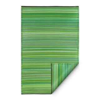 Fab Habitat Indoor/Outdoor Rug Cancun - Green (5' x 8')