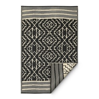 Fab Habitat Indoor/Outdoor Rug Kilimanjaro - Black (4' x 6')