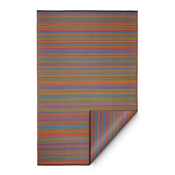 Handmade Indoor/Outdoor Cancun Multicolor Rug (India) - 5' x 8'