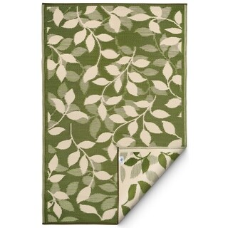 Handmade Forest Green and Cream Rug (India) - 3' x 5'