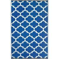 Fab Habitat Indoor/Outdoor Rug Tangier - Regatta Blue & White (8' x 10')