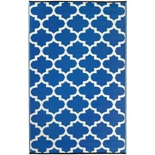 Fab Habitat Indoor/Outdoor Rug Tangier - Regatta Blue & White (4' x 6')