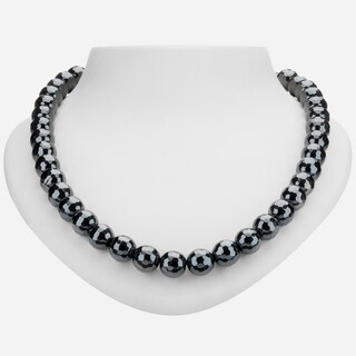 """Tara Mesa Sterling Silver 19"""" Hematite Faceted Beaded Necklace"""