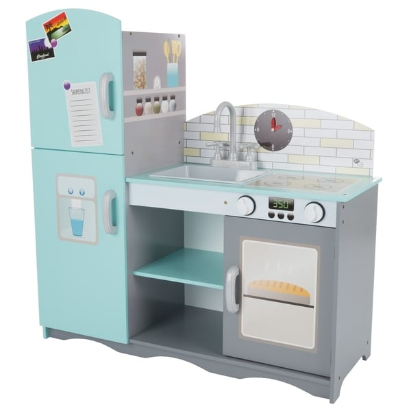Kids Toy Kitchen Set  Fun Pretend Play Home Kitchen Playset With Oven, Sink,