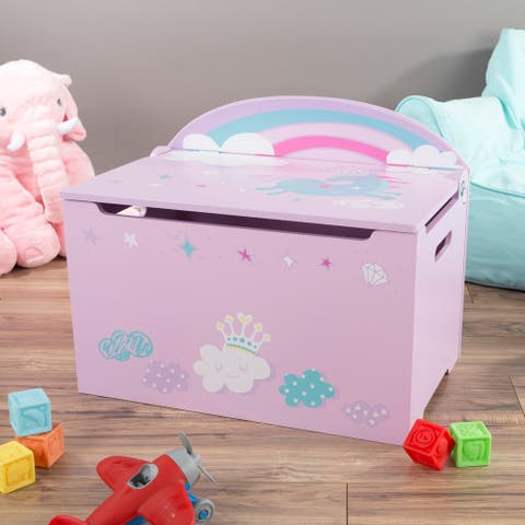 Toy Box-Storage Bench Seat - Kids-Organization Chest-Toys, Stuffed Animals, Clothes, Blankets-Bedroom and more by Hey! Play!