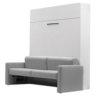 Aladino Grey Polyurethane Wall Bed With Sofa