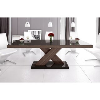 XENON Dining Table with Extension - Brown Top/OAK Faro Legs