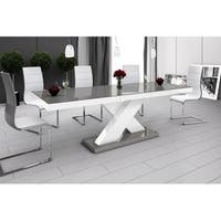 XENON Dining Table with Extension - Grey/White