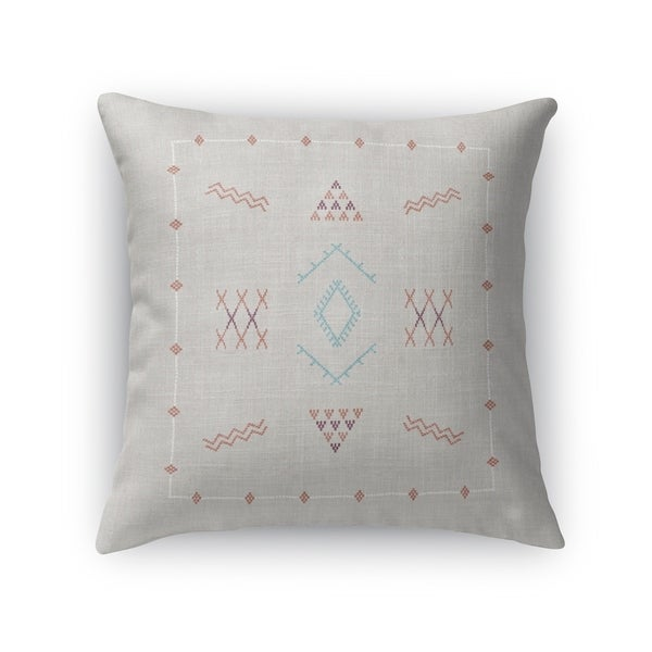Marrakesh Kilim Light Grey Accent Pillow By Kavka Designs