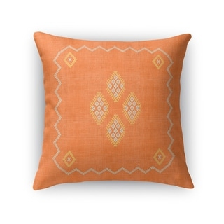 Kilim Orange Accent Pillow By Becky Bailey