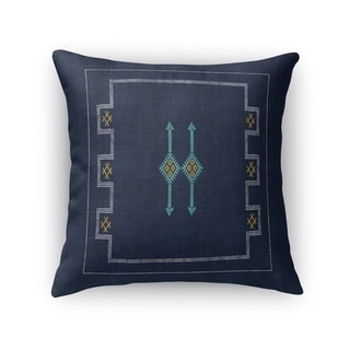 Cactus Silk Navy Accent Pillow By Kavka Designs