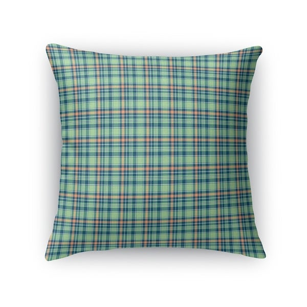 PLAID CORAL MINT Accent Pillow By Kavka Designs