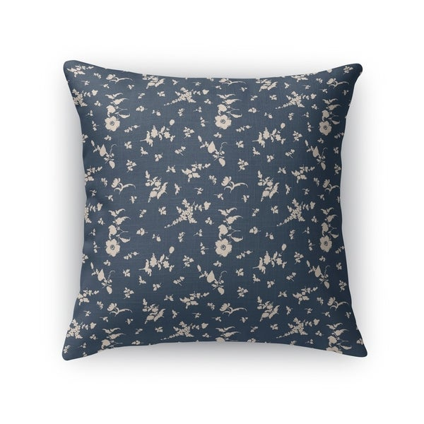 FLORAL DANCE NAVY Accent Pillow By Kavka Designs