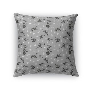 FLORAL DANCE GREY Accent Pillow By Kavka Designs