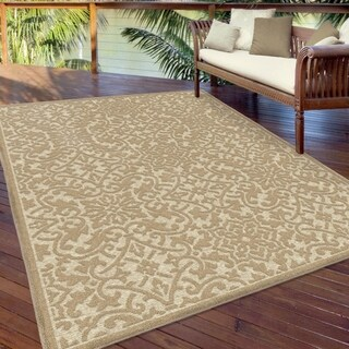 "Orian Rugs Boucle Indoor/Outdoor Biscay Driftwood Area Rug - 5'2"" x 7'6"""