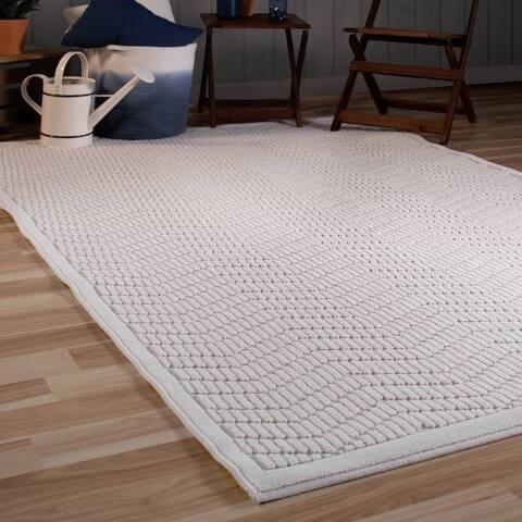 """Orian Rugs Boucle Indoor/Outdoor Renton Natural Area Rug - 5'2"""" x 7'6"""""""
