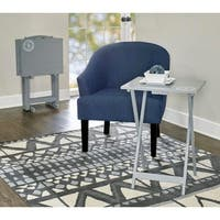 Opal Gray Compass Tray Table Set