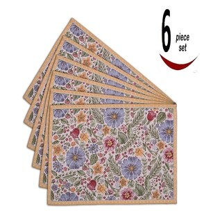 Homvare Tapestry Kitchen Table Placemat for Dinner Parties, Events, Decor 6 Pack