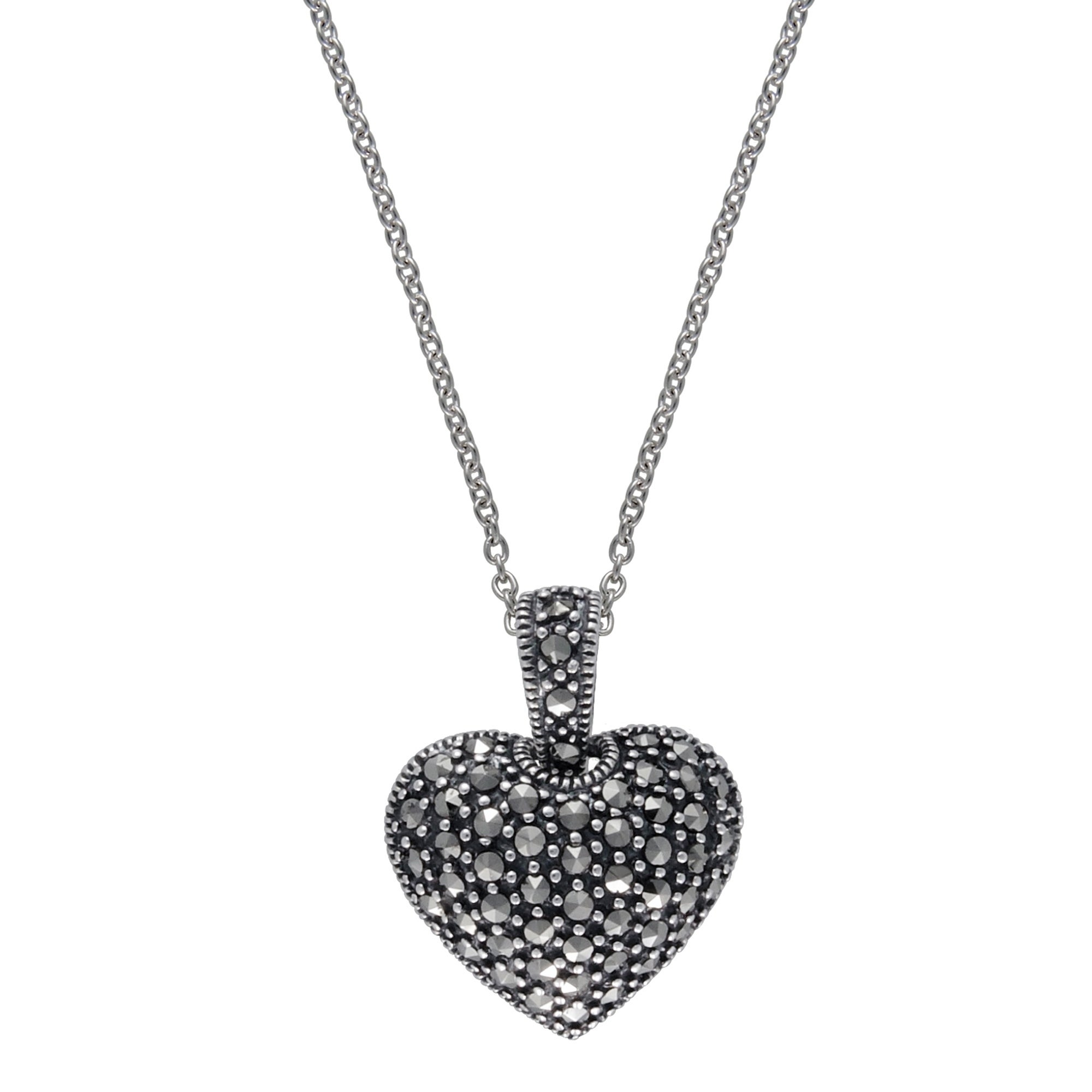 """Details about  /925 Sterling Silver Marcasite Cross Chain Pendant Necklace Size 18/"""" Ct 0.6"""