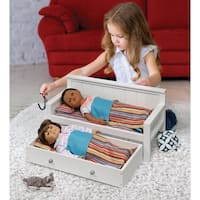 Sofa/Daybed with Trundle for 18 inch Dolls - White/Multi
