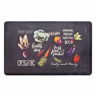 Chef Gear Tablet Border Healthy Living Gelness Mat - 1'8 x 3'3
